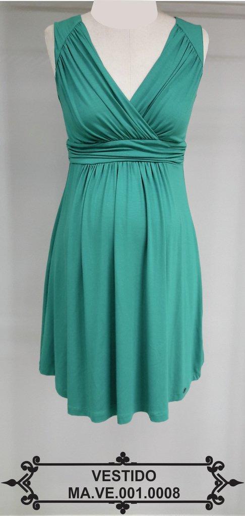 bea074e48 Vestido Curto Gestante Verde