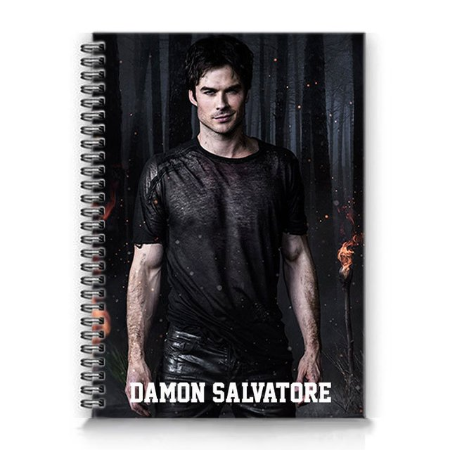 caderno damon salvatore