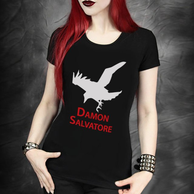 camiseta damon salvatore  baby look