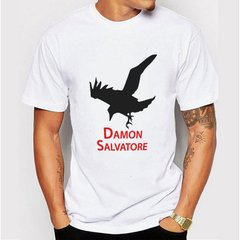 camiseta corvo damon salvatore