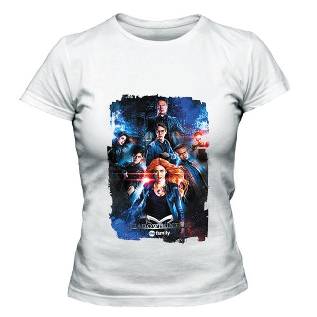 camiseta baby look shadowhunters