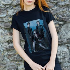 camiseta preta the vampire diaries