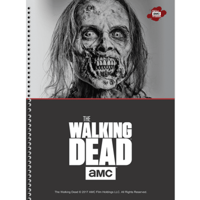 caderno serie The Walking Dead