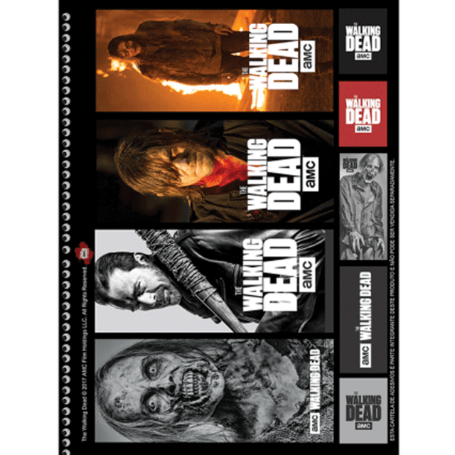 serie The Walking Dead caderno