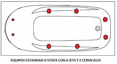 Jacuzzi Medidas Estandar.Banera Hidromasaje Jacuzzi 180x82 8 Jets Acrilico Premium
