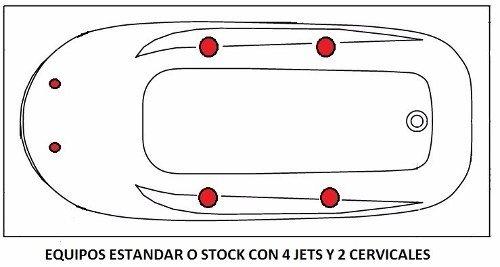 Jacuzzi Medidas Estandar.Banera Hidromasaje Jacuzzi 170x70 6 Jets Acrilico Premium