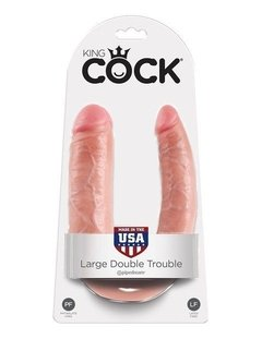 King Cock Large Double Trouble - Dildo Realista Doble