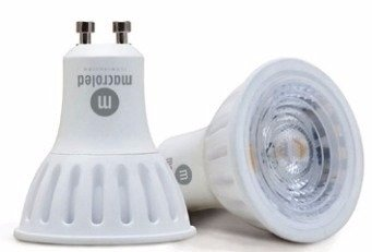 Pack 8 Lamparas Dicroicas Led 7 W Macroled Pvc