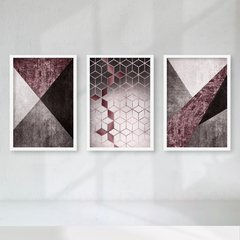 Kit de quadros Elegance Wine - Quadros decorativos | Pirilampo Decor