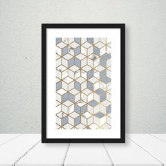 Quadro Geometric Blue com Borda