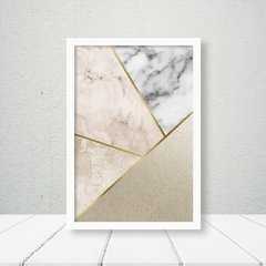 Kit de quadros Trio Geometrico Moderno Gold - Quadros decorativos | Pirilampo Decor