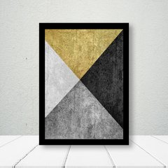 Kit de Quadros Geometrico Elegance Gold - Quadros decorativos | Pirilampo Decor