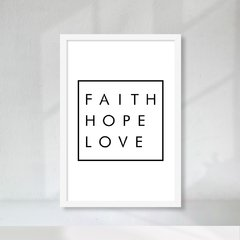 Kit de quadros Faith Hope Love II na internet