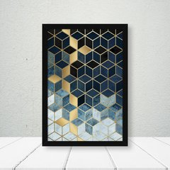 Quadro New Geometric Blue Gold