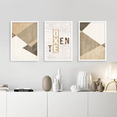 Kit de quadros Oxente Geométrico - Quadros decorativos | Pirilampo Decor