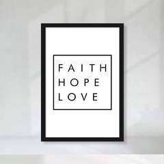 Kit de quadros Faith Hope Love II - loja online
