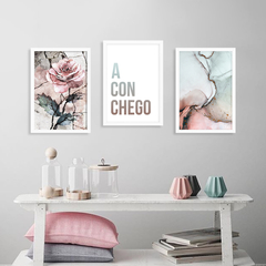 Kit de quadros Aconchego Rose