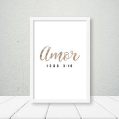Kit de quadros Amor e Fé Bronze Gold - Quadros decorativos | Pirilampo Decor