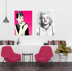 Kit de quadros Audrey e Marilyn - Quadros decorativos | Pirilampo Decor