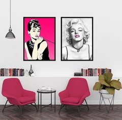 Kit de quadros Audrey e Marilyn