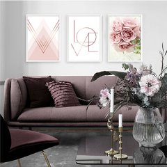 Kit de quadros Geometrico Love Floral - Quadros decorativos | Pirilampo Decor