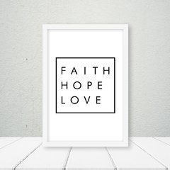 Quadro Faith Hope Love - comprar online