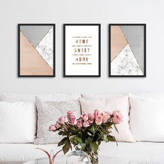 Kit de quadros Home Sweet Home II - comprar online