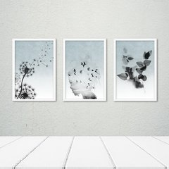Kit de quadros Beautiful Dreams Blue - Quadros decorativos | Pirilampo Decor