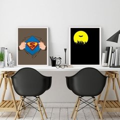 Kit de quadros Batman x Super man