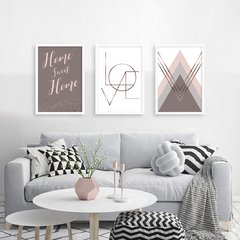 Kit de quadros Classic Home Love
