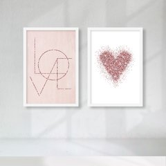 Kit de Quadros Love Duo II - Quadros decorativos | Pirilampo Decor