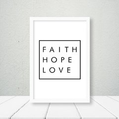 Kit de quadros Faith Hope Love na internet