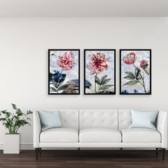 Kit de quadros Abstract Flowers na internet
