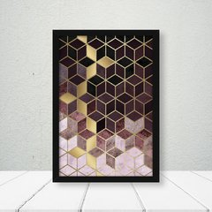 Kit de quadros Geometric Vinho Duo - Quadros decorativos | Pirilampo Decor