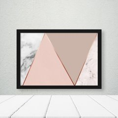 Imagem do Kit de quadros Geometric Clean Rose