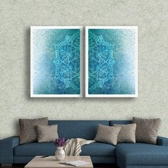 Kit de quadros Mandala Blue - Quadros decorativos | Pirilampo Decor