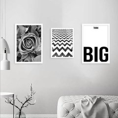 Kit de quadros Think Big - comprar online