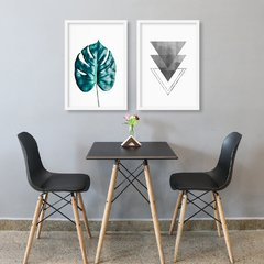Kit de Quadros Adam Leaf Geometric - comprar online