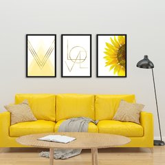 Kit de quadros Sunflower - Quadros decorativos | Pirilampo Decor