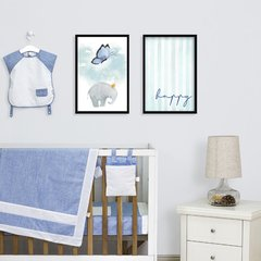 Kit de quadros Elefante Happy I - comprar online