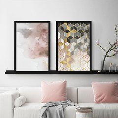 Kit de quadros Abstrato Rose Duo - comprar online