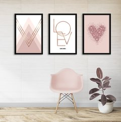 Kit de quadros Classic Love II - Quadros decorativos | Pirilampo Decor