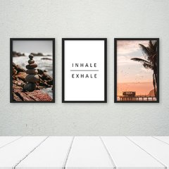 Kit de Quadros Inhale Exhale Trio - Quadros decorativos | Pirilampo Decor
