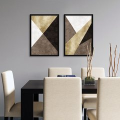 Kit de Quadros Elegance Gold Brown Duo - Quadros decorativos | Pirilampo Decor
