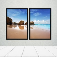 Kit de Quadros Mar Azul Duo - Quadros decorativos | Pirilampo Decor