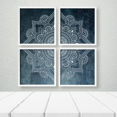 Kit de quadros Mandala Moderna Blue na internet