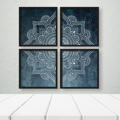 Kit de quadros Mandala Moderna Blue - Quadros decorativos | Pirilampo Decor