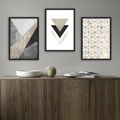 Kit de quadros Modern Triangle sem borda - comprar online