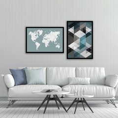 Kit de quadros Geometric Map - comprar online