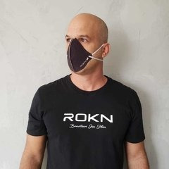 SET OF 3 ROKN WASHABLE MASKS BLACK AND BLUE - buy online